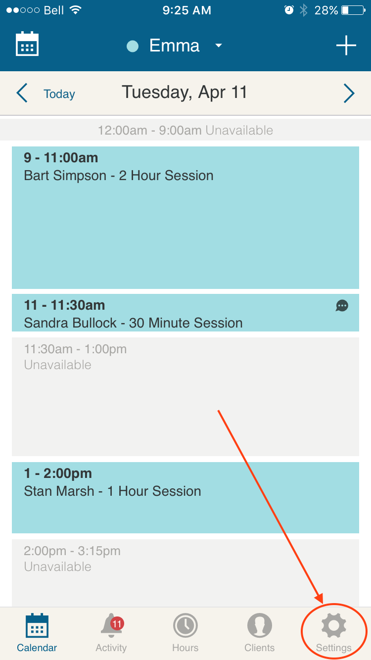 appointment_scheduling_app_mobile_settings_bookedin.PNG