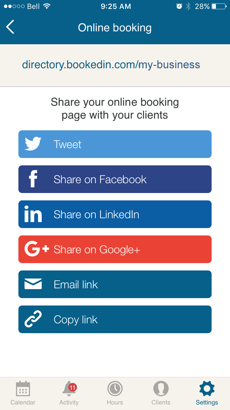 share_booking_page_with_clients_for_appointment_scheduling_app_bookedin.PNG